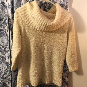 3/4 length sleeve turtleneck style sweater-